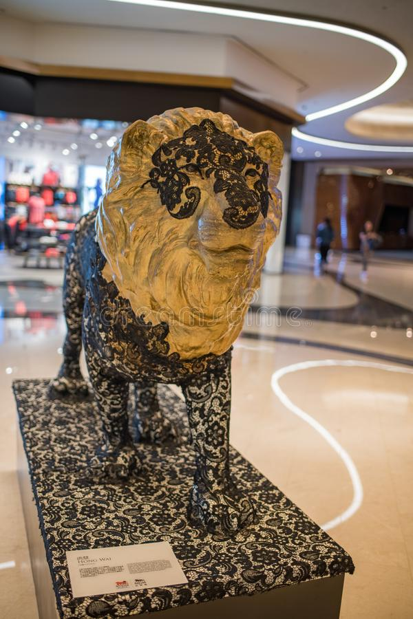 Leo lew maskotka MGM Ucieka się zdjęcie royalty free