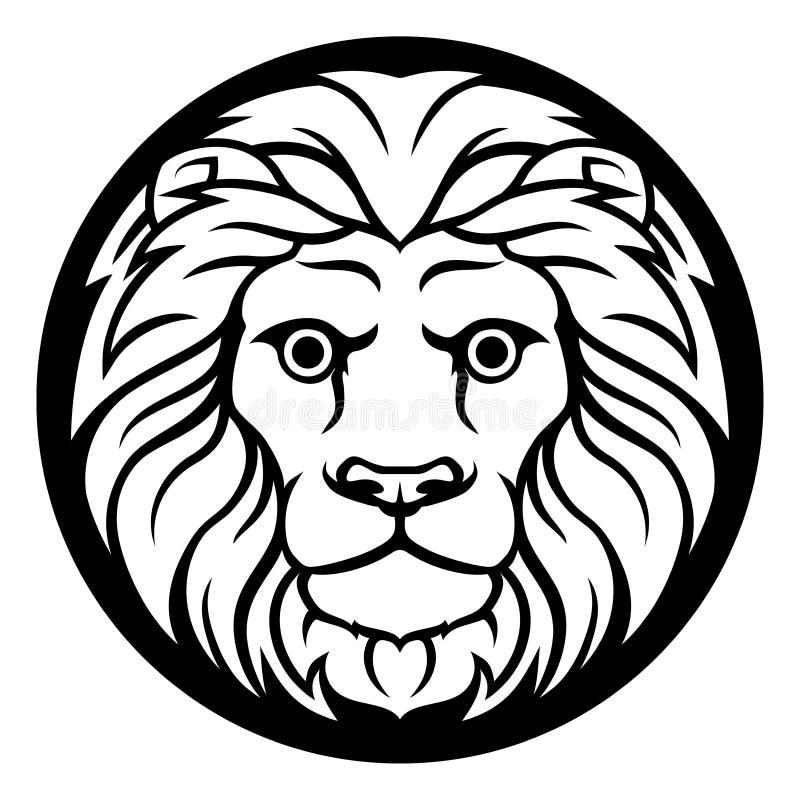 Leo Lion Zodiac Sign illustration libre de droits