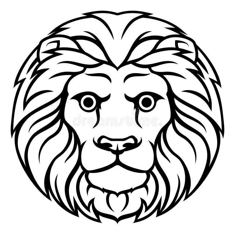 Leo lwa zodiaka horoskopu znak ilustracja wektor