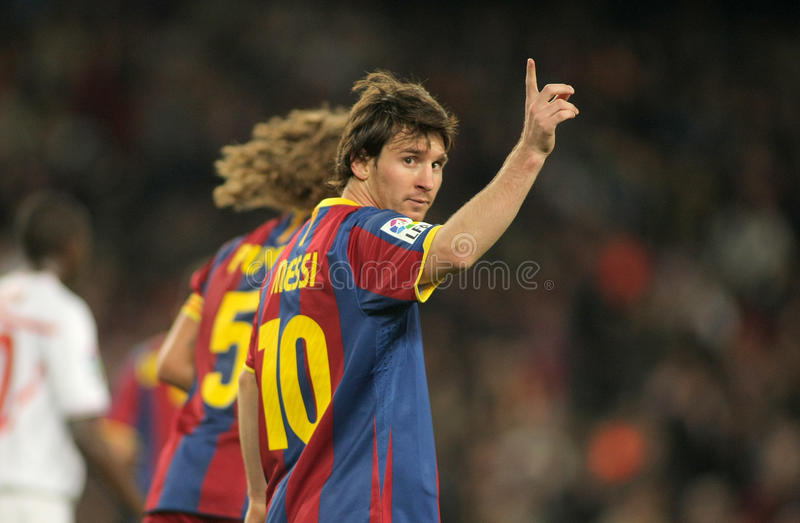 Leo Messi de FC Barcelona imágenes de archivo libres de regalías