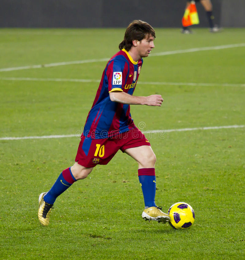 Leo Messi (FC Barcelona) foto de stock royalty free