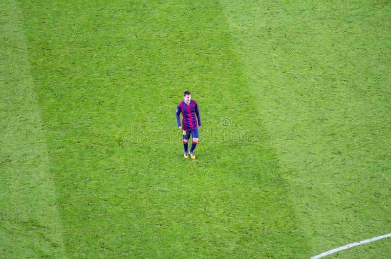 Leo Messi FC Barcelona w akci zdjęcie stock