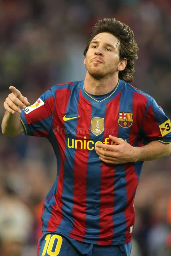 Leo Messi gode di fotografia stock
