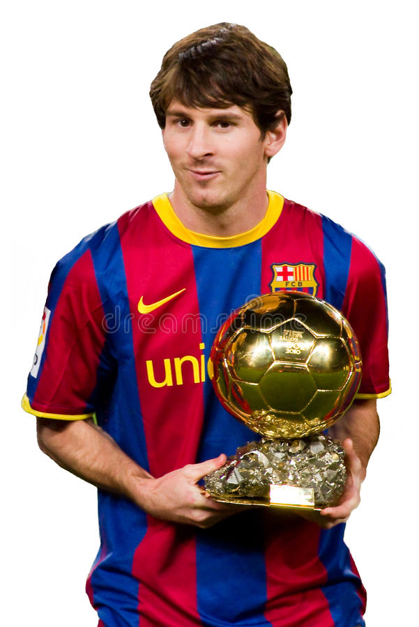 Champions League Trophy Vector Leo Messi With Golden ...