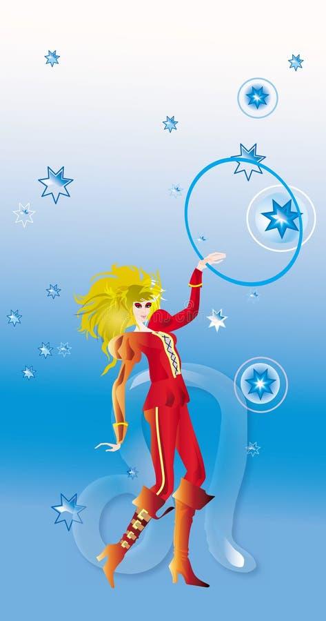 Leo (segno di zodiaco) illustrazione di stock