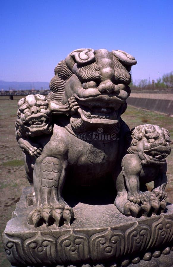 Leo statuary. stock photography