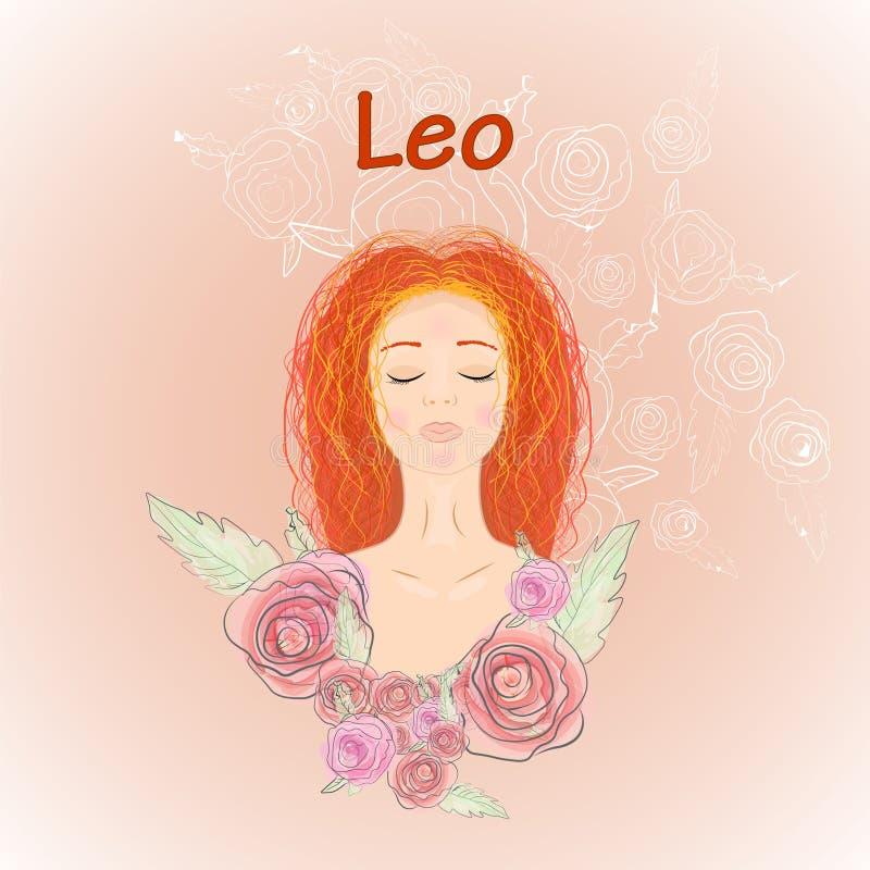Leo van het dierenriemteken vector illustratie