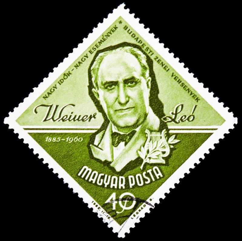 Leo Weiner 1885-1960 kompositör, serie för Budapest musikkonkurrens, circa 1963 arkivfoton