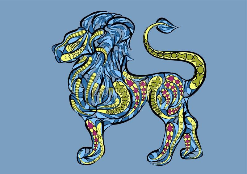 Leo Zodiac Sign illustration libre de droits