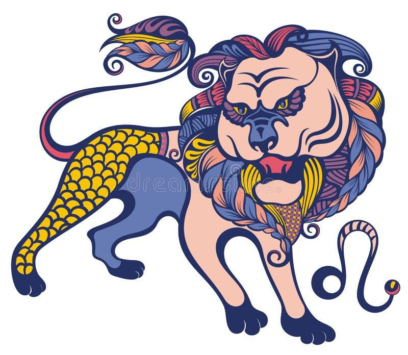 Zodiac sign of Leo . Astrological, horoscope symbol stock illustration
