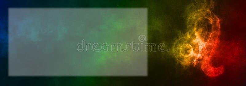 Leo Zodiac Sign Segno dell'oroscopo di Leo Stanza del testo del modello immagini stock libere da diritti