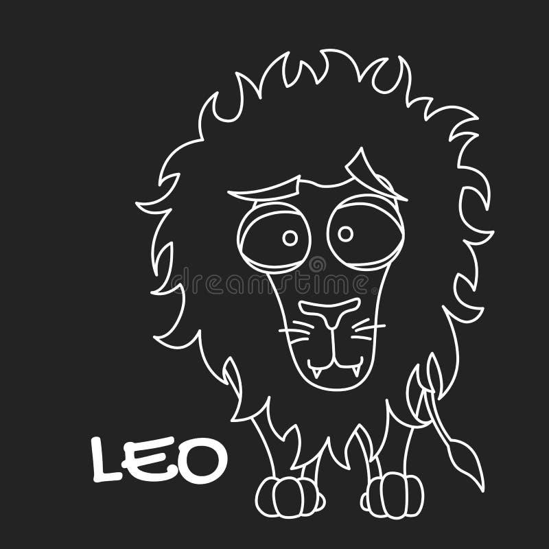 Leo zodiaka znak dla horoskopu w wektorze EPS8 fotografia stock