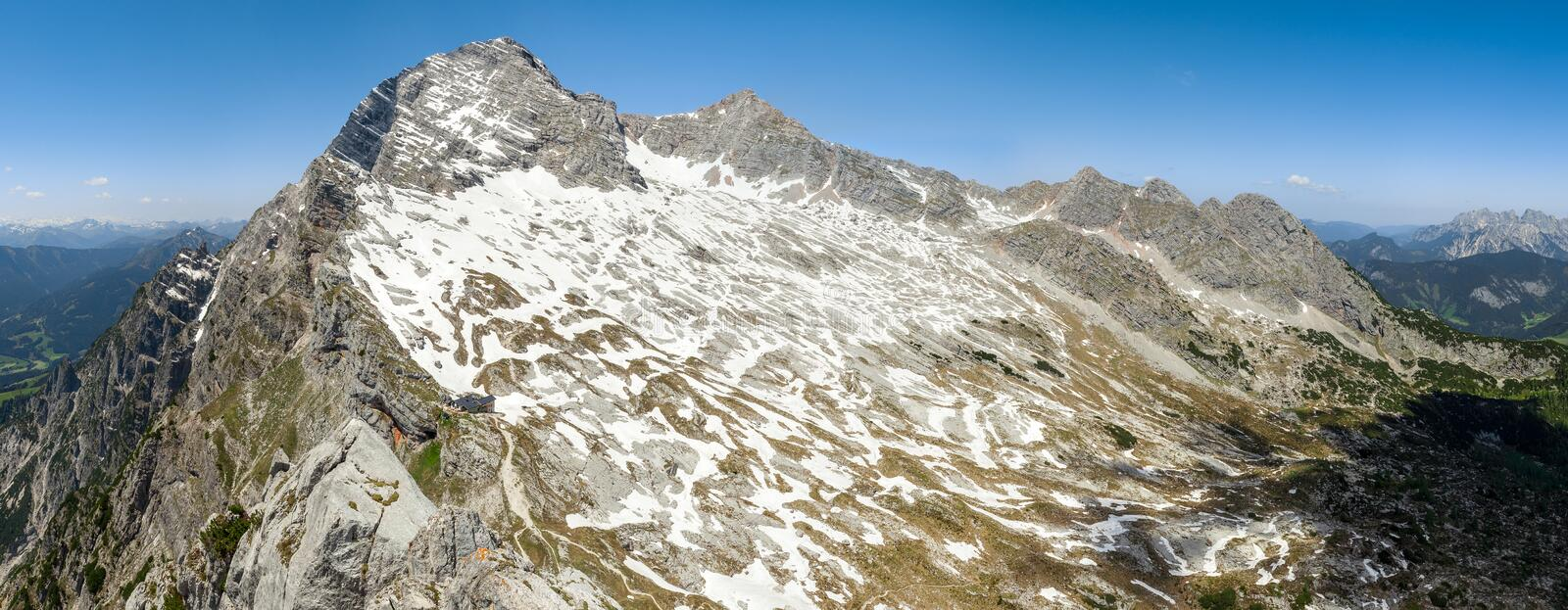 Leogang Mountains, Austria royalty free stock images