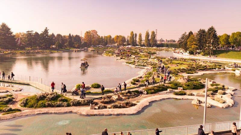 Leolandia è un parco di divertimenti italiano famoso per la miniatura fotografia stock libera da diritti