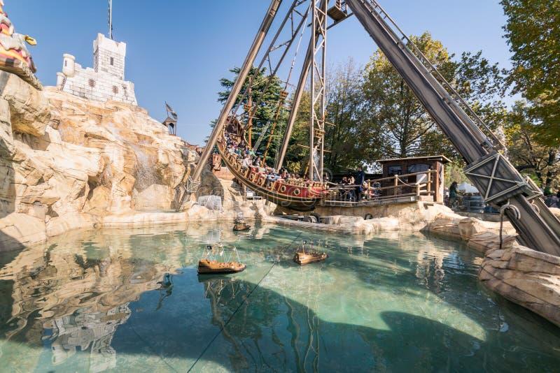 Leolandia é um parque de diversões italiano famoso para a miniatura fotografia de stock royalty free