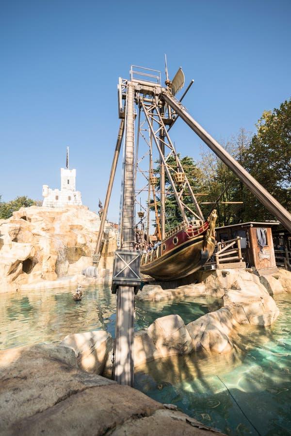 Leolandia é um parque de diversões italiano famoso para a miniatura fotos de stock