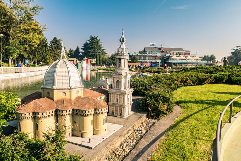 Leolandia is an Italian amusement park famous for the miniature. Bergamo, Italy - October 30, 2016: Leolandia is an amusement park famous for the miniature royalty free stock photos