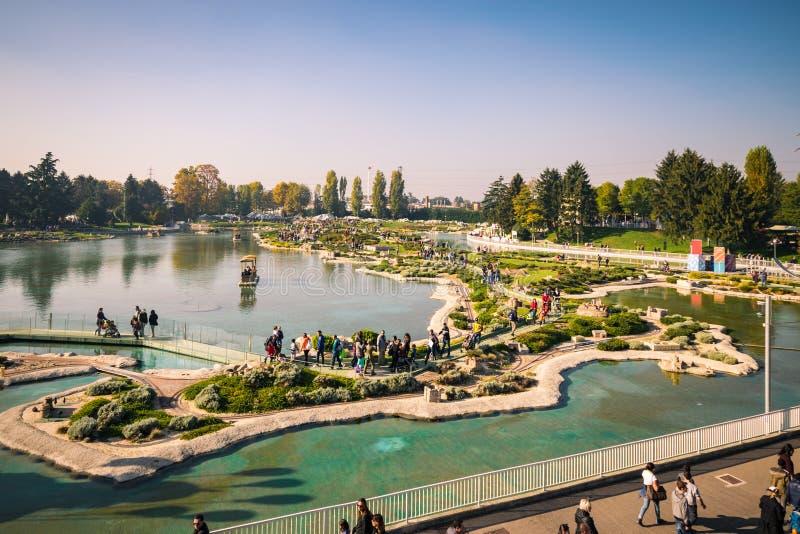 Leolandia is an Italian amusement park famous for the miniature. Bergamo, Italy - October 30, 2016: Leolandia is an amusement park famous for the miniature stock photos