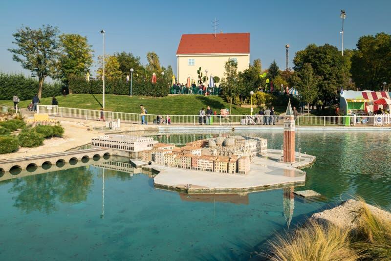 Leolandia is an Italian amusement park famous for the miniature. Bergamo, Italy - October 30, 2016: Leolandia is an amusement park famous for the miniature royalty free stock image