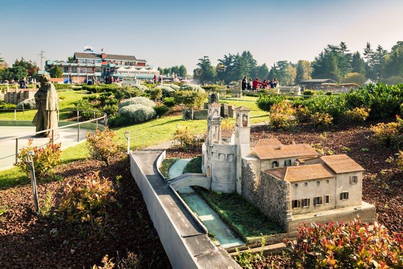 Leolandia is an Italian amusement park famous for the miniature. Bergamo, Italy - October 30, 2016: Leolandia is an amusement park famous for the miniature stock photography