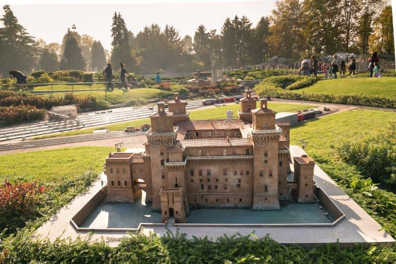 Leolandia is an Italian amusement park famous for the miniature. Bergamo, Italy - October 30, 2016: Leolandia is an amusement park famous for the miniature stock image