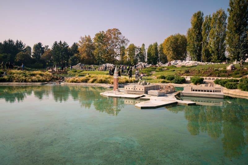 Leolandia is an Italian amusement park famous for the miniature. Bergamo, Italy - October 30, 2016: Leolandia is an amusement park famous for the miniature stock images