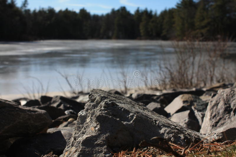 Leominster Lake royalty free stock photography