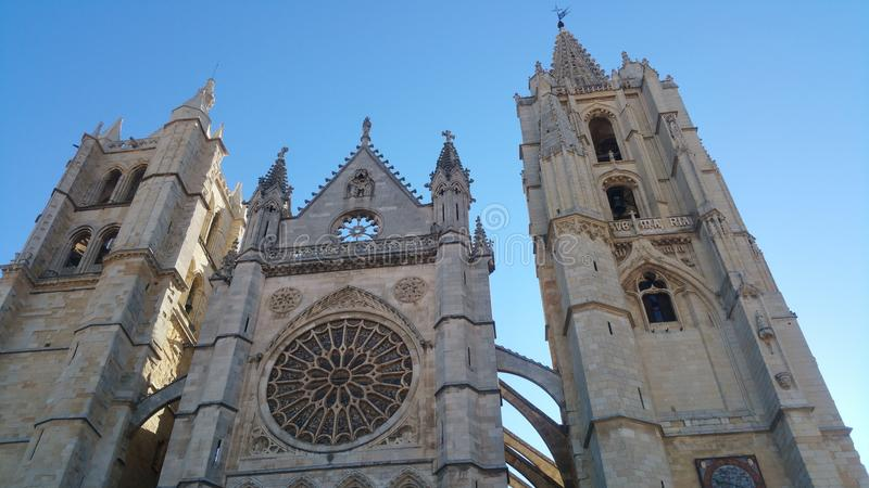 Leon Catedral fotografía de archivo libre de regalías