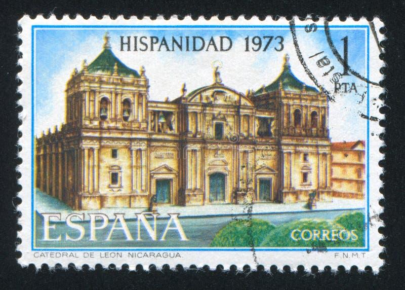 Leon Cathedral em Nicarágua foto de stock
