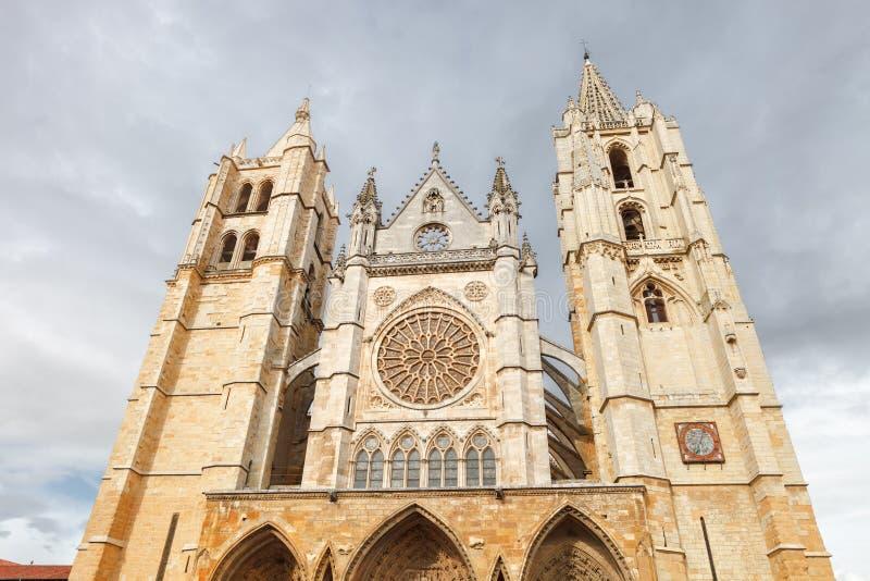 Leon Cathedral, Espagne photos libres de droits