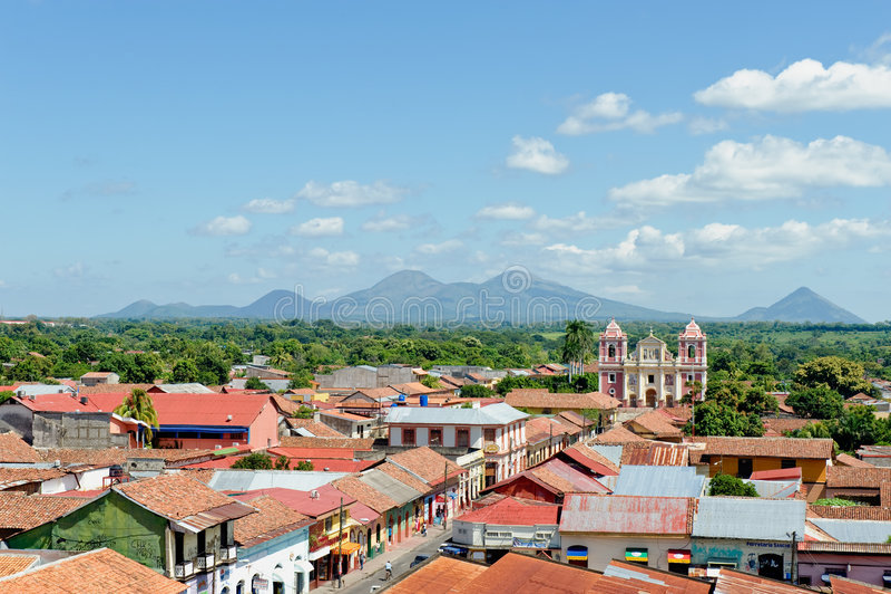 Leon city aerial Nicaragua royalty free stock photos
