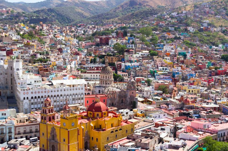 Aereal view of downtown Leon Guanajuato Mexico city royalty free stock photos