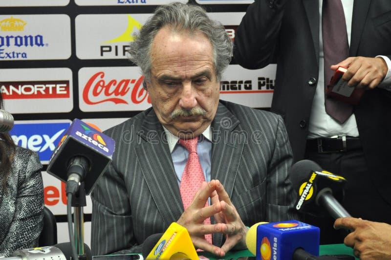 Decio de Maria, Präsident von Liga MX in der Konferenz lizenzfreies stockfoto