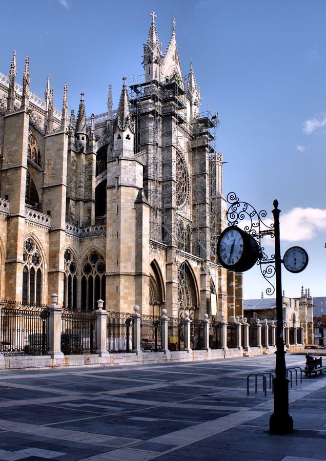 Leon-Kathedrale stockfoto