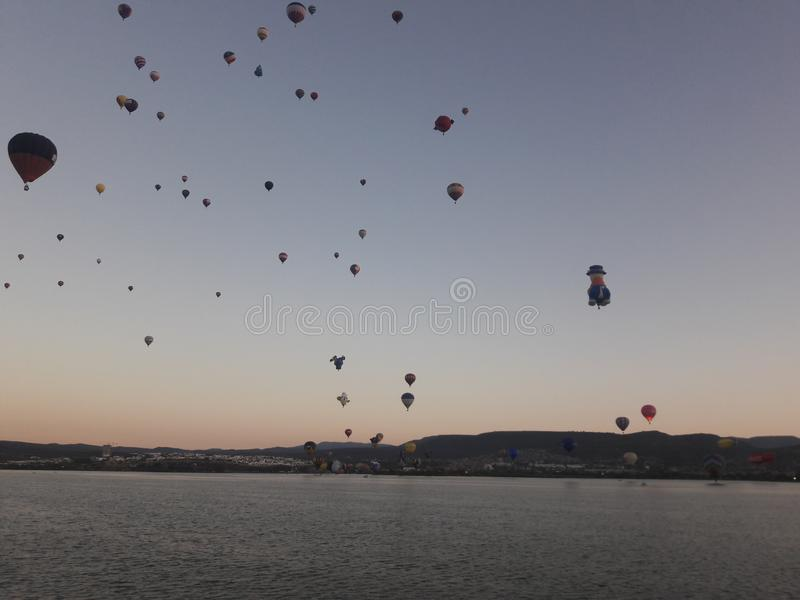 Leon Mexico International Hot Air Balloon Festival FIG royalty free stock photography
