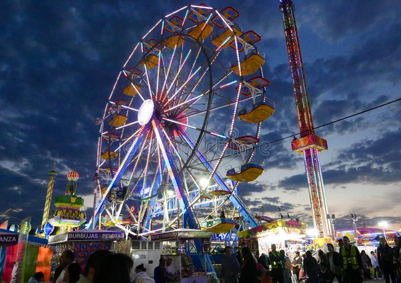 Leon, Mexico-January 13, 2017: Carnival Ride. Carnival game at a fair in Leon, Mexico stock photography