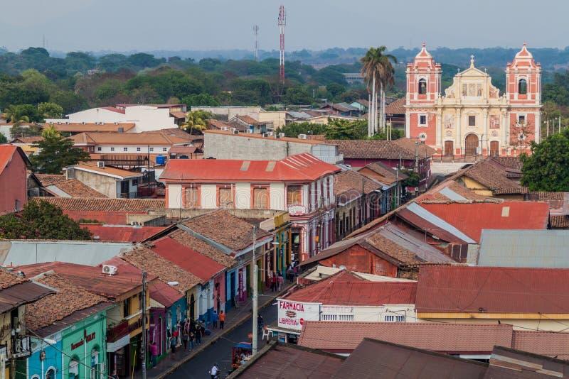 LEON, NICARAGUA - 25. APRIL 2016: Kirche EL Calvario in Leon, Nicarag lizenzfreies stockbild