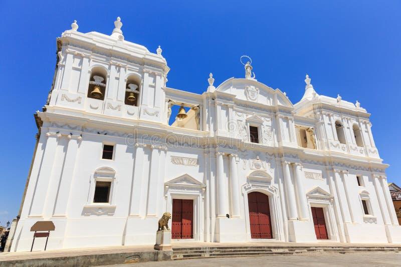 Leon, Nicaragua. Catedral de la Ascunción de María (Mary's Assumption Cathedral stock photography