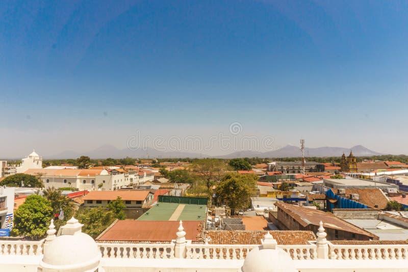 Leon, Nikaragua Widok od dachu katedra duża katedra w Ameryka Środkowa i znacząco turystyczny miejsce w mieście, fotografia royalty free