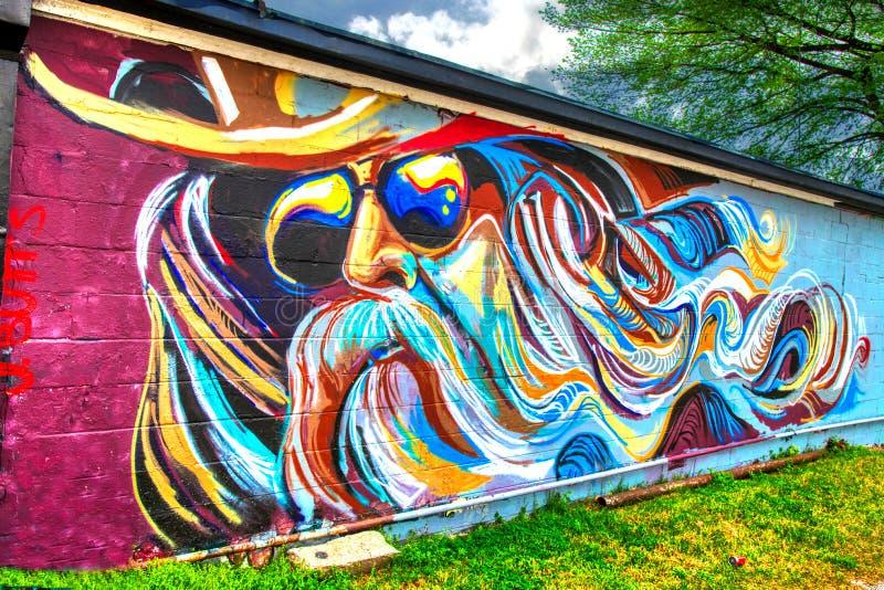 Leon Russell Mural Tulsa, Οκλαχόμα  Αστέρι ρόλων βράχου ν στοκ εικόνες