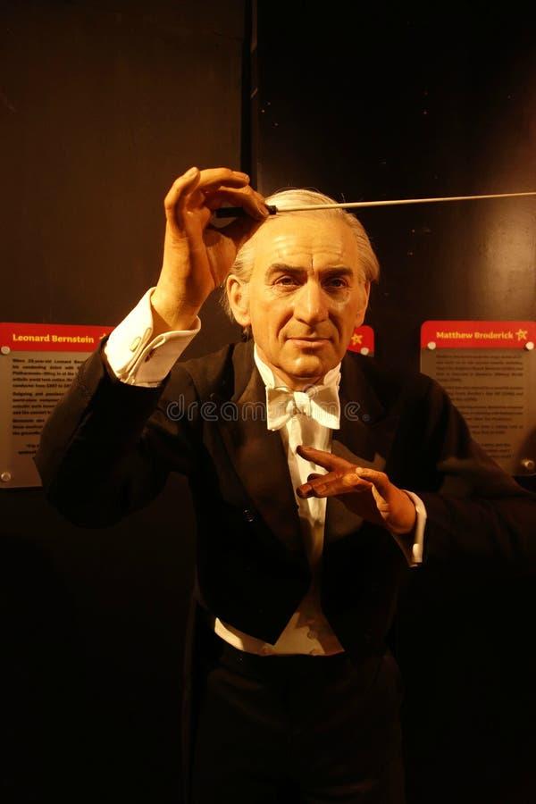 Leonard Bernstein Wax Figure royalty-vrije stock foto