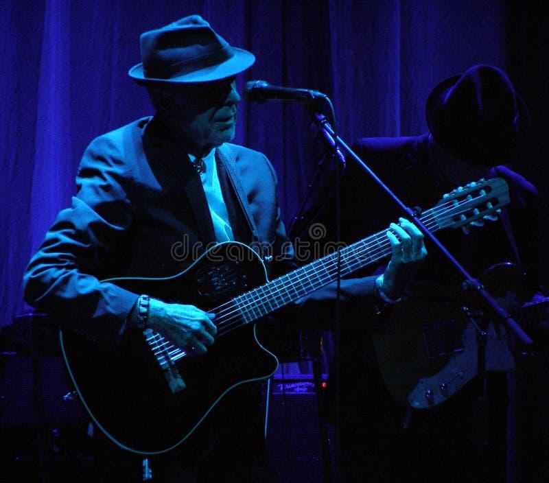 Leonard Cohen - Florence 2010 stock photography