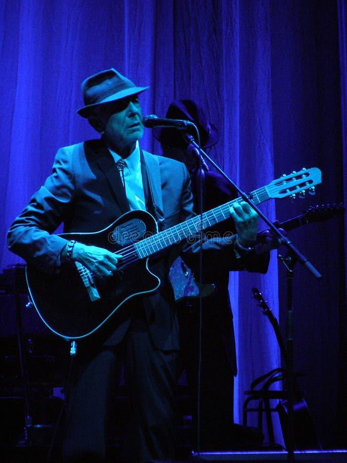 Leonard Cohen - Florence 2010 stock photos
