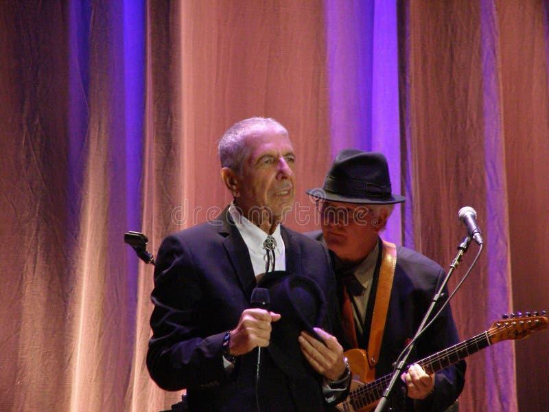 Leonard Cohen - Florence 2010 stock image