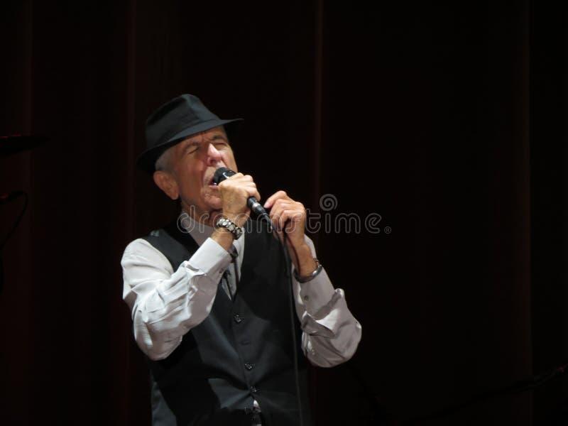 Leonard Cohen (Luca 2013) stock afbeelding
