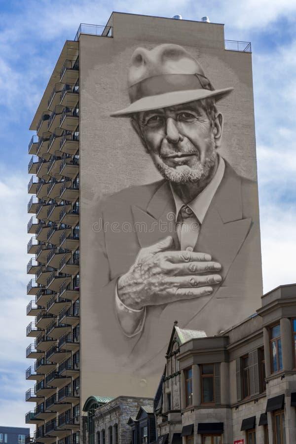 Leonard Cohen-Wandgem?lde lizenzfreie stockfotografie