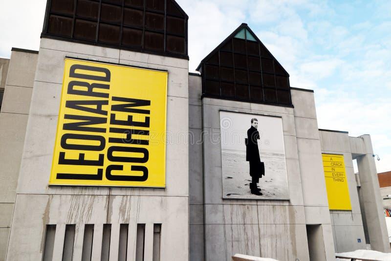 Leonard Cohen wystawa w Montreal obrazy stock
