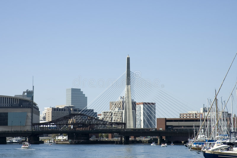Leonard P. Zakim Bridge 1 stock photos