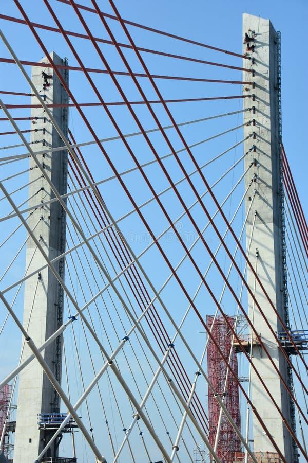 Leonard P Zakim Bunker Hill Bridge in Boston royalty free stock images