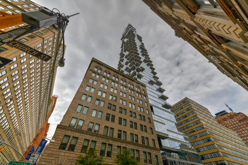 56 Leonard Street - New York City images stock